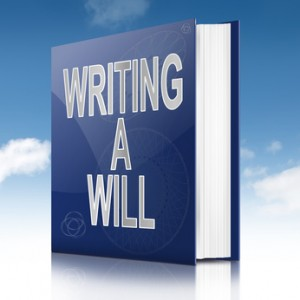 Writing a will concept. - Mesa Green